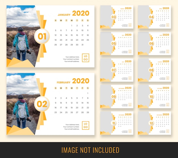2020 desk calendar design PSD file | Premium Download