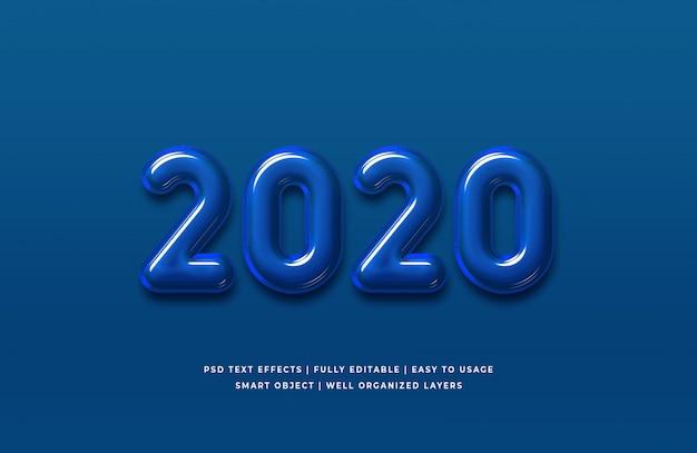2020年の年間テキスト効果 Premium Psd