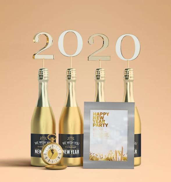 Новый год 2020 макет рамы Бесплатные Psd