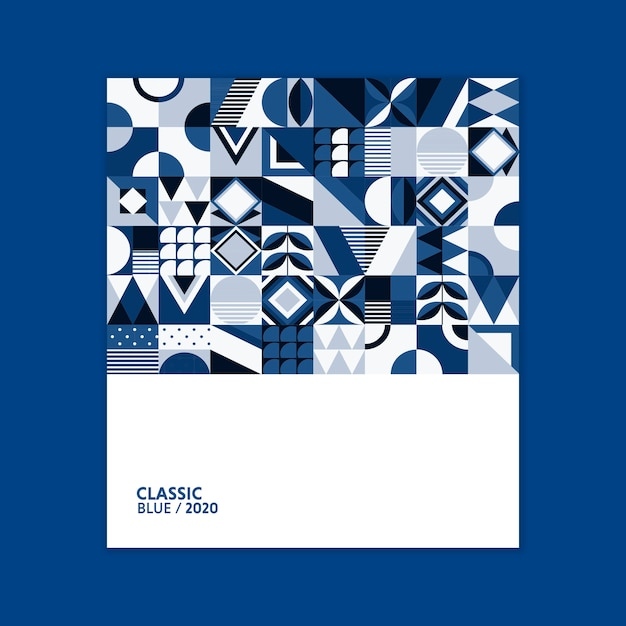 2020年の幾何学的なポスターカラー 無料 Psd