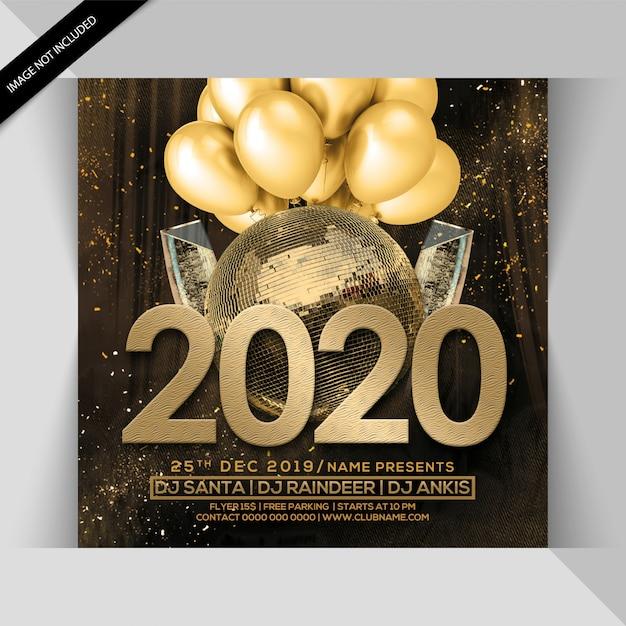 Листовка с новым годом 2020 Premium Psd