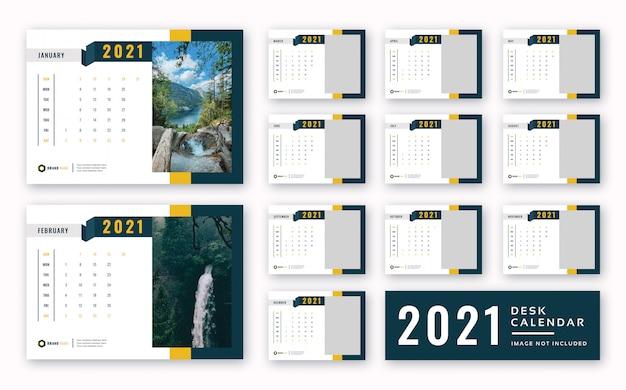 2021 desk calendar print ready template Premium Psd