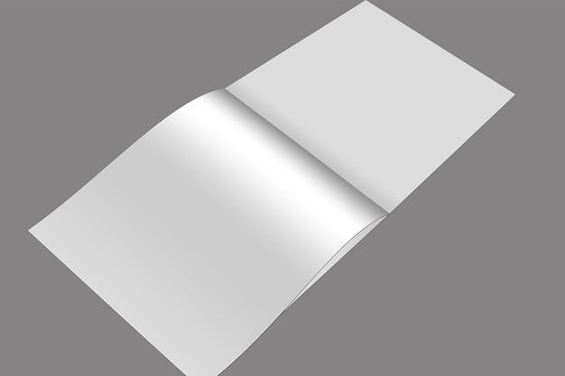 正方形のパンフレットと2つ折りモックアップデザイン Premium Psd
