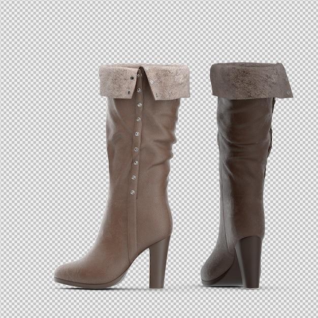等尺性靴3 d絶縁レンダリング Premium Psd