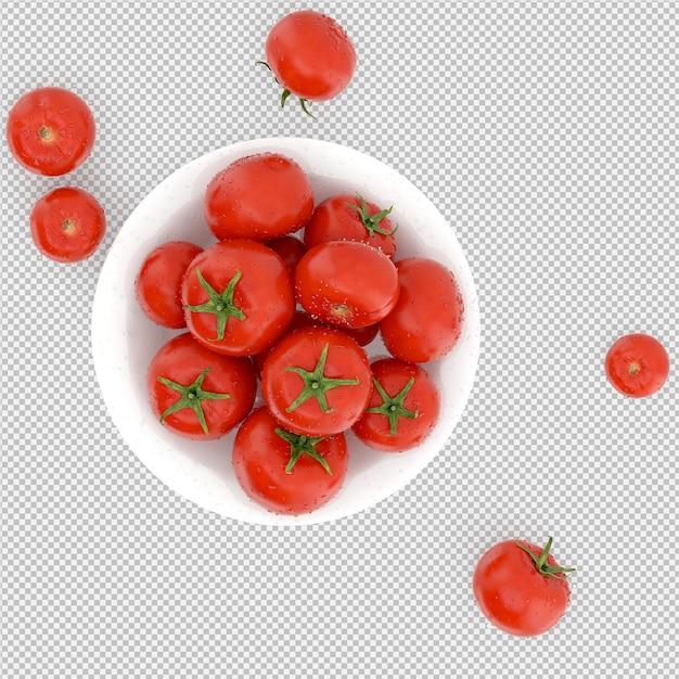 等尺性トマトの3 dレンダリング Premium Psd