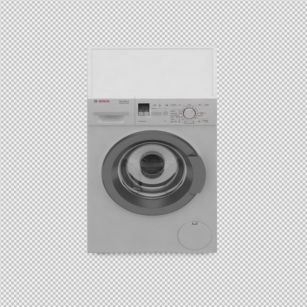 等尺性洗濯機の3 dレンダリング Premium Psd