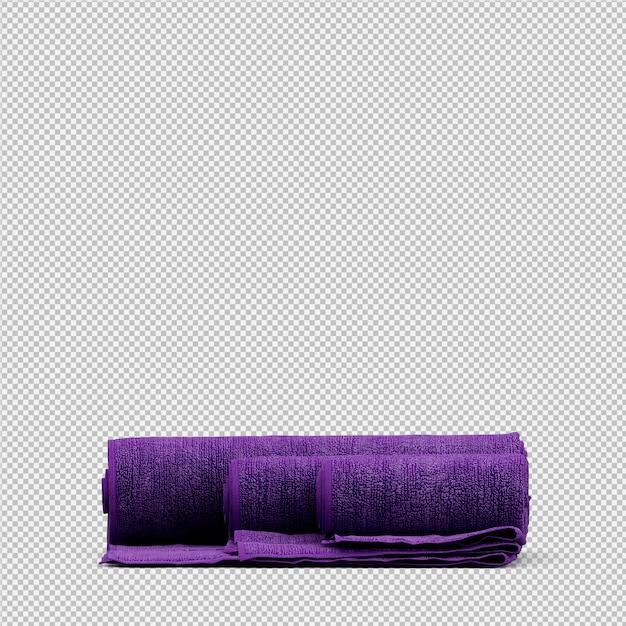 折り畳まれたタオル3 d分離レンダリング Premium Psd
