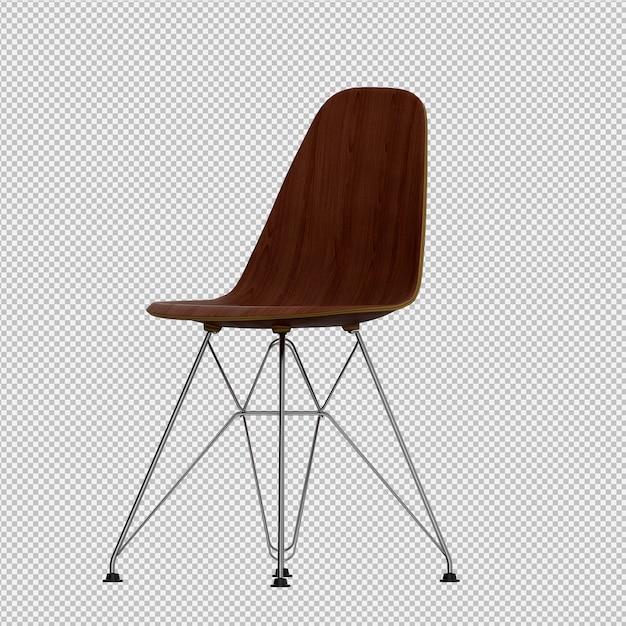 等尺性椅子3 dレンダリング Premium Psd