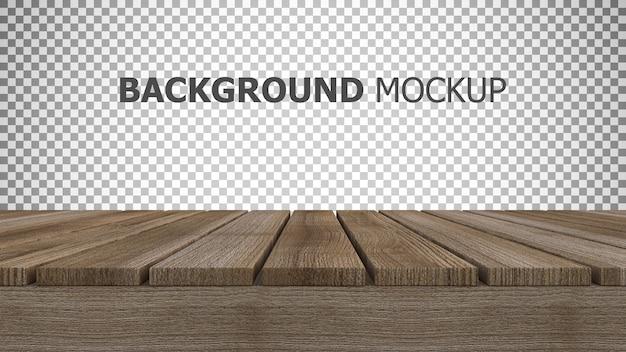 木製パネルの3 dレンダリングのモックアップの背景 Premium Psd