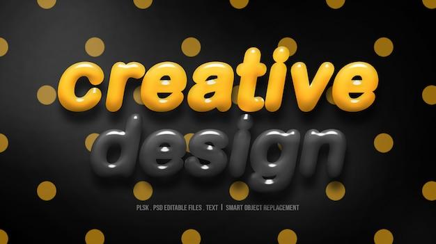 創造的なデザイン3 dテキストスタイルのモックアップ Premium Psd