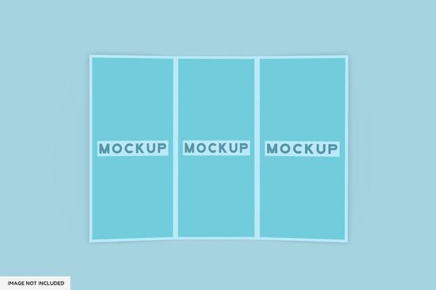 3-fold brochure mockup isolated Premium Psd