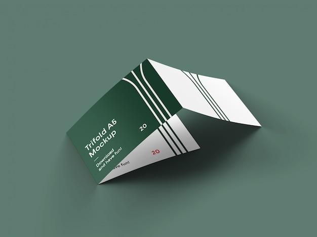 3 fold landscape brochure mockup Premium Psd