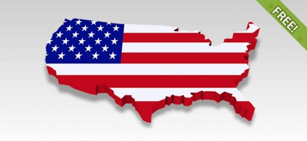Isolated D USA Maps PSD File Free Download - Free usa maps