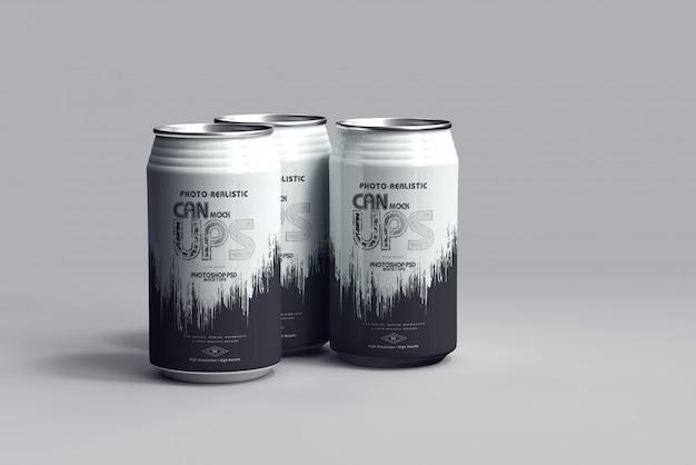 350ml soda can mockup Premium Psd