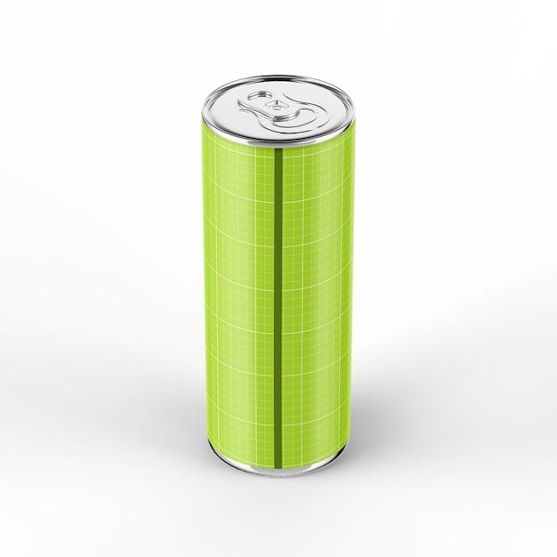 355ml energy drink can mockup Premium Psd