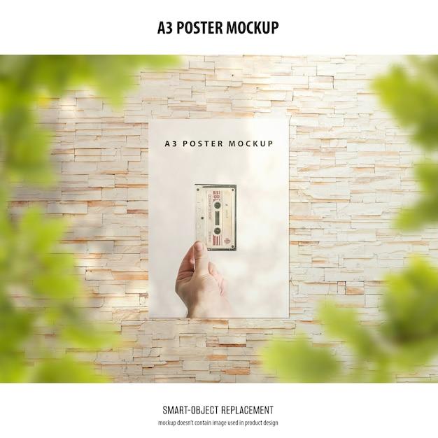 А3 макет плаката Бесплатные Psd