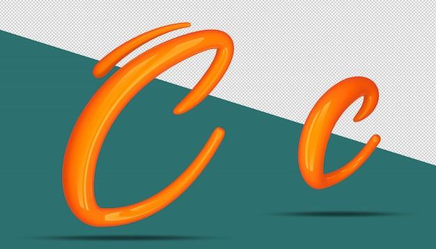 3d алфавит каллиграфии стиль c Premium Psd
