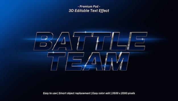 3d battle team editable text effect Premium Psd