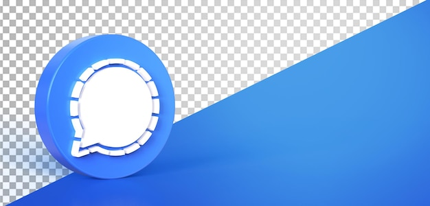 3d chat circle icon button icon isolated Premium Psd