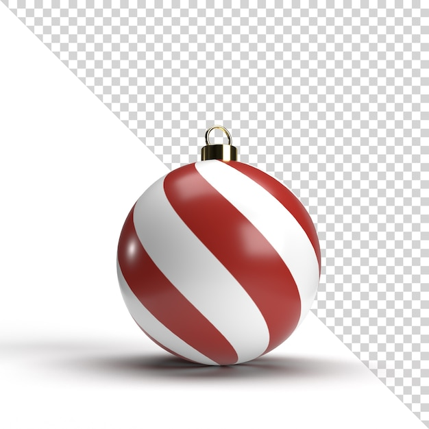 3d christmas ball isolated rendering Premium Psd