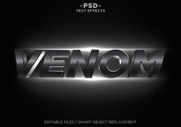 Редактируемый текст 3d cinematic black venom effects Premium Psd