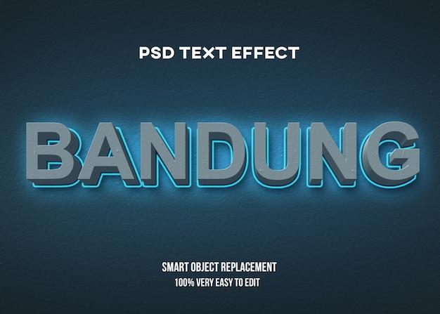 3d бетон синий с эффектом свечения текста Premium Psd