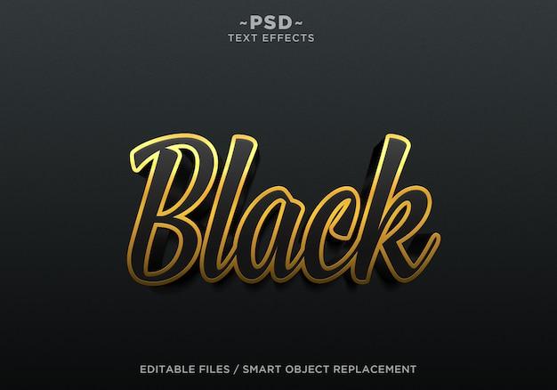 3d создавать черные эффекты редактируемый текст Premium Psd
