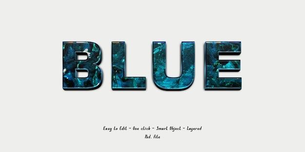 3d effect font with blue brush texture Premium Psd