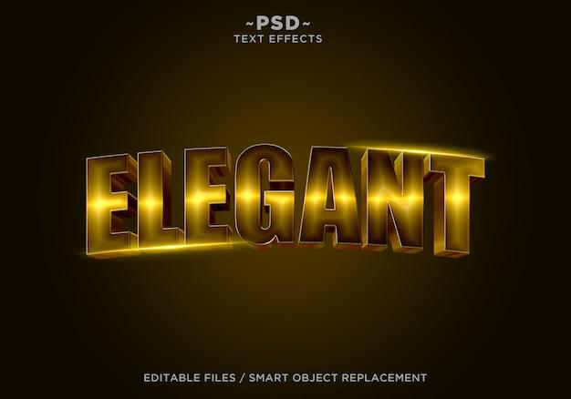 3d элегантный золотой эффект редактируемый текст Premium Psd
