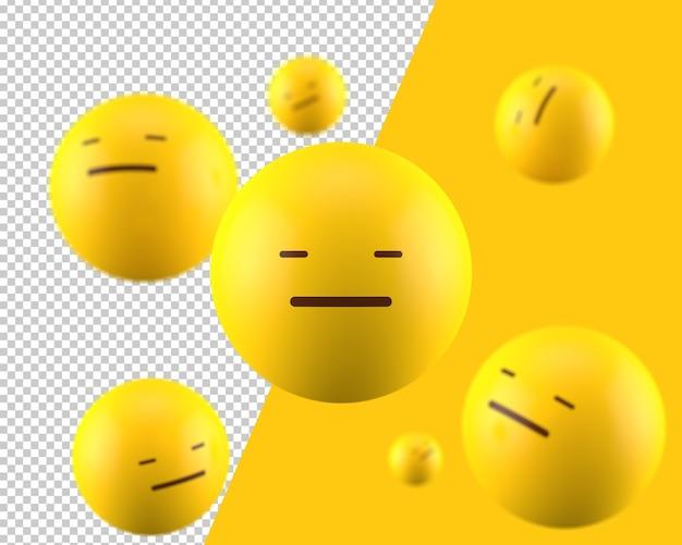 3d expressionless emoticon icon Premium Psd