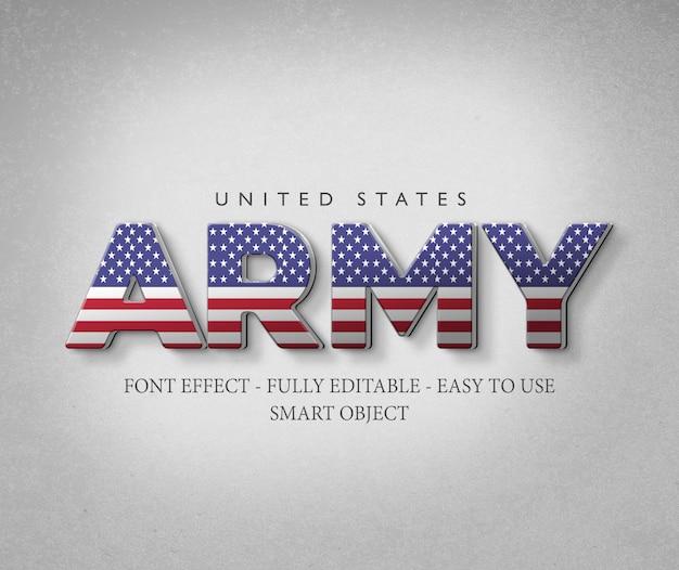 3d font effect america usa flag Premium Psd