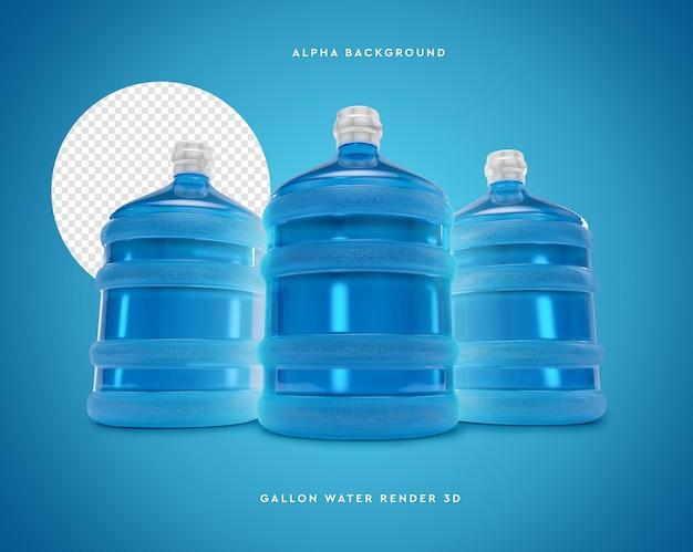 3д галлон воды в 3d рендеринге Premium Psd