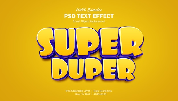 3d game logo style text effect template Premium Psd