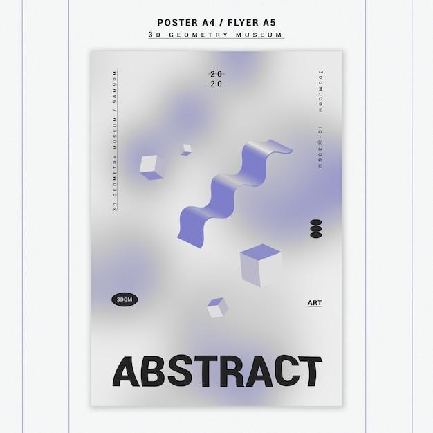 Modello del manifesto di forme geometriche 3d Psd Gratuite