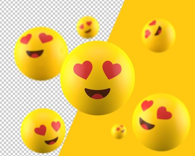 3d heart eyes emoticon icon Premium Psd