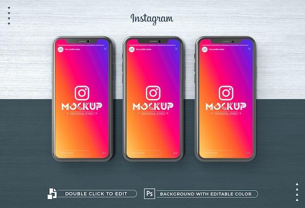 3d Instagram Story 아이폰 모형 프리미엄 PSD 파일