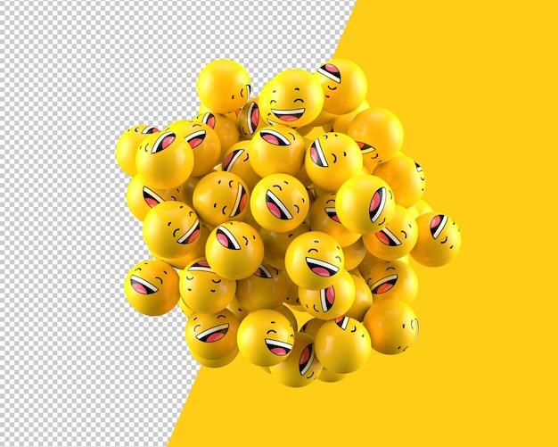 3d laughing spheres icon Premium Psd
