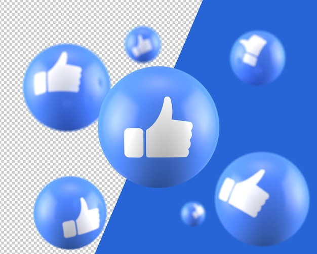 3d like icon Premium Psd