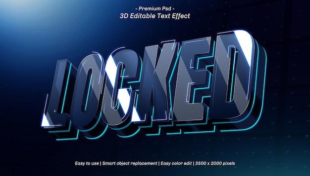 3d locked editable text effect Premium Psd