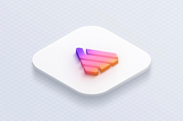 3d-макет приложения со значком логотипа Premium Psd