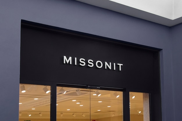 Segno di facciata moderna mockup logo 3d Psd Gratuite