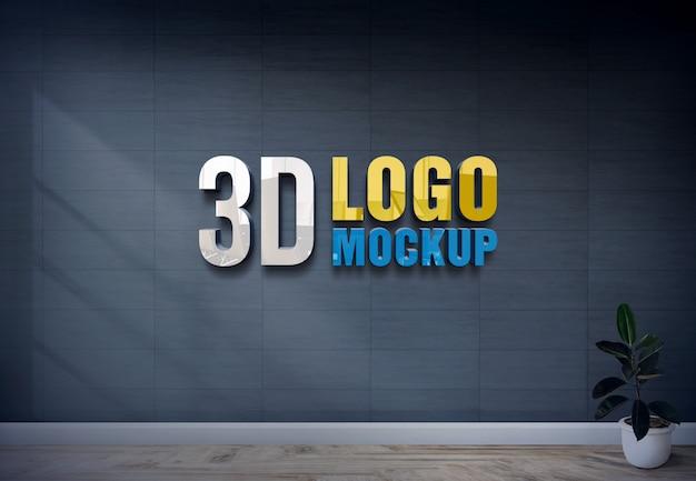 3d logo mockup Premium Psd