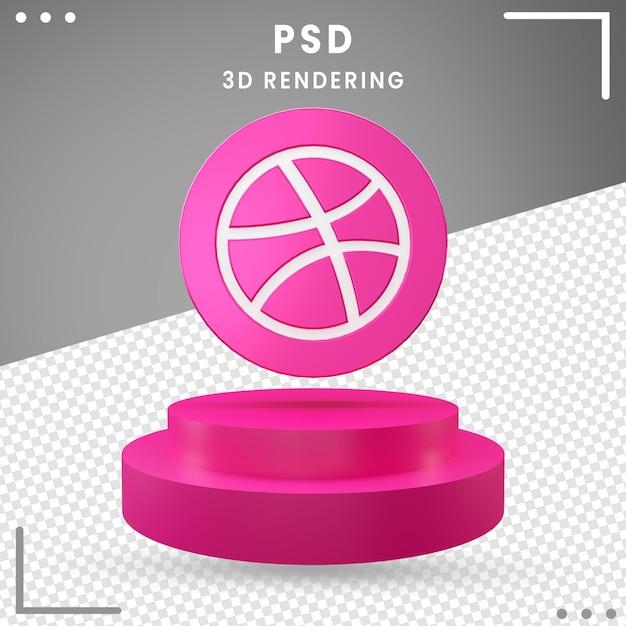 3dロゴ回転アイコンドリブル分離 Premium Psd