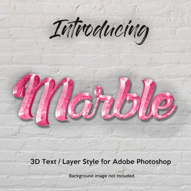 3d marble granite textured photoshop layer style text effects PSD