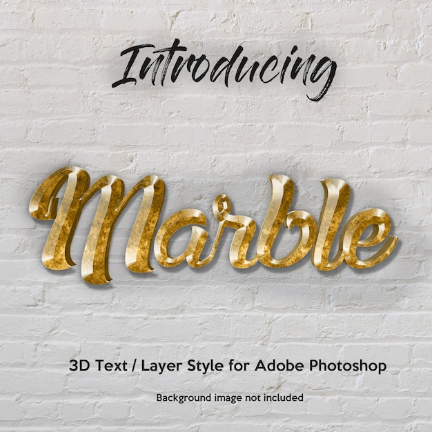 3d marble granite textured photoshop layer style text effects Premium Psd
