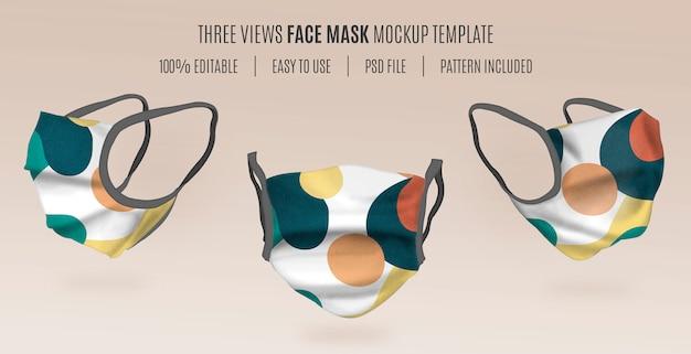 Modello di mockup maschera 3d Psd Gratuite