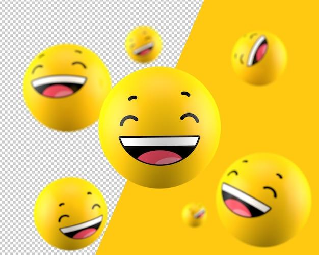 3d mile emoticon icon Premium Psd