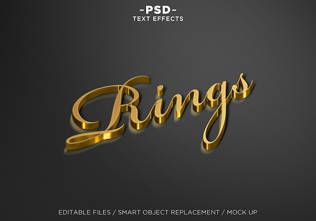 3d mock up ring style editable text effects Premium Psd