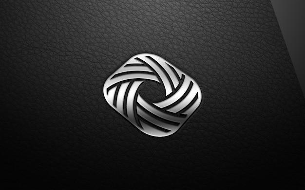 3d современный логотип макет Premium Psd