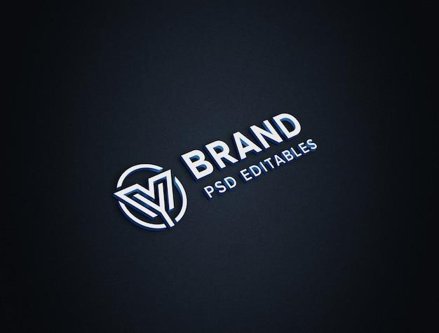 3d 종이 로고 이랑 프리미엄 PSD 파일
